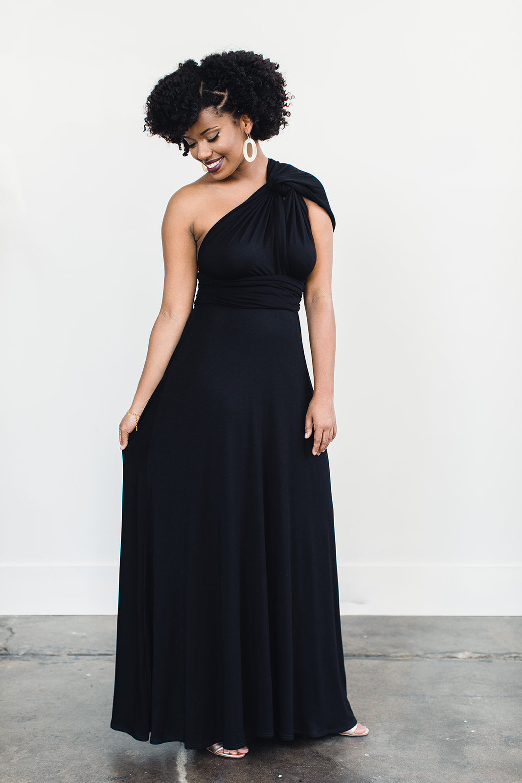 Ecofriendly black evening gown