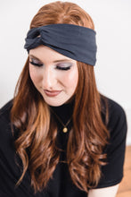 Load image into Gallery viewer, Turban Headband -- Charcoal