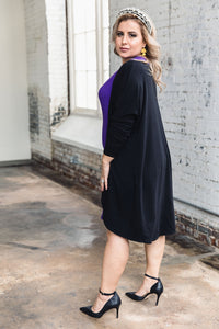 Penelope Duster -- Black Terry Cloth