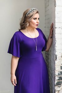 Shirley Dress -- Royal Purple