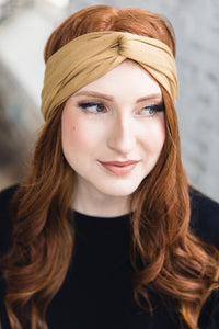 Turban Headband --Gold