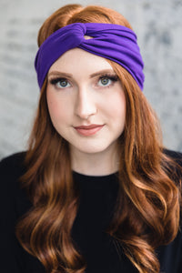 Turban Headband -- Royal Purple