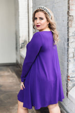 Load image into Gallery viewer, Sophia Dress -- Royal Purple