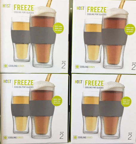 FREEZE Cooling Pint Glass Set of 2