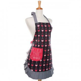 Patterned Apron-Kiss The Cook