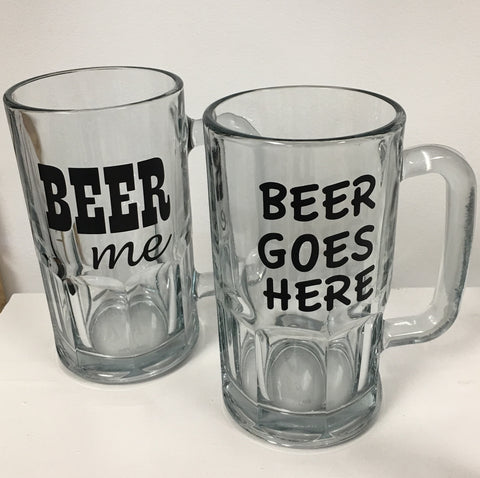 Decorated Beer Mug