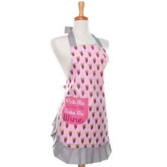 Patterned Apron-Pick Me Squeeze Me