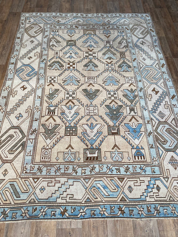 "3'1""x9'5"" Vintage Turkish Short Runner Designed by Zeki Muren"