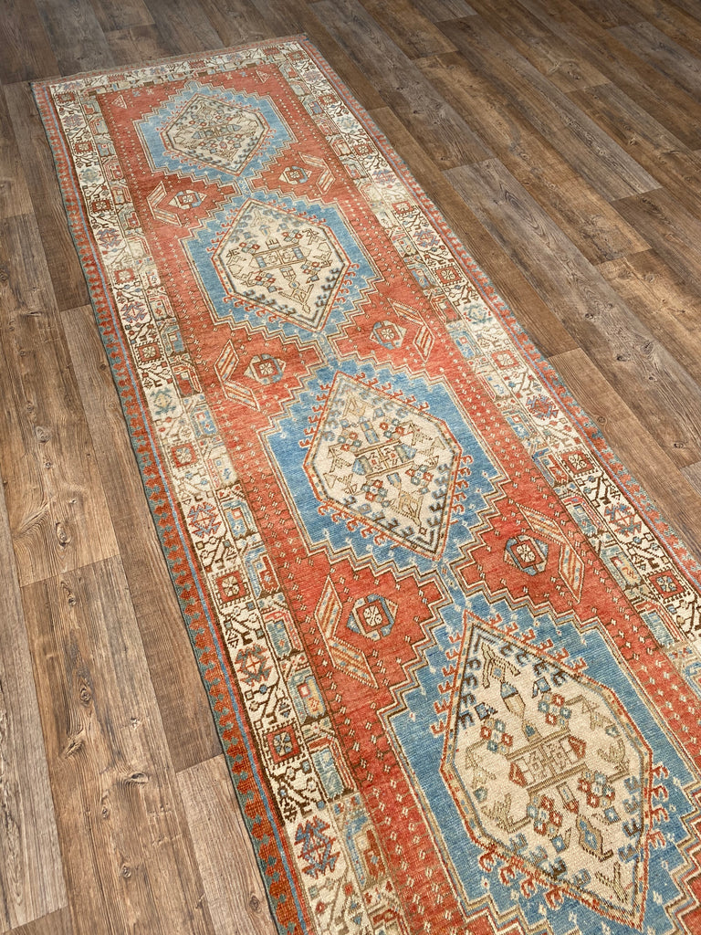"3'4"" x 10'3"" Antique Sarab Runner"