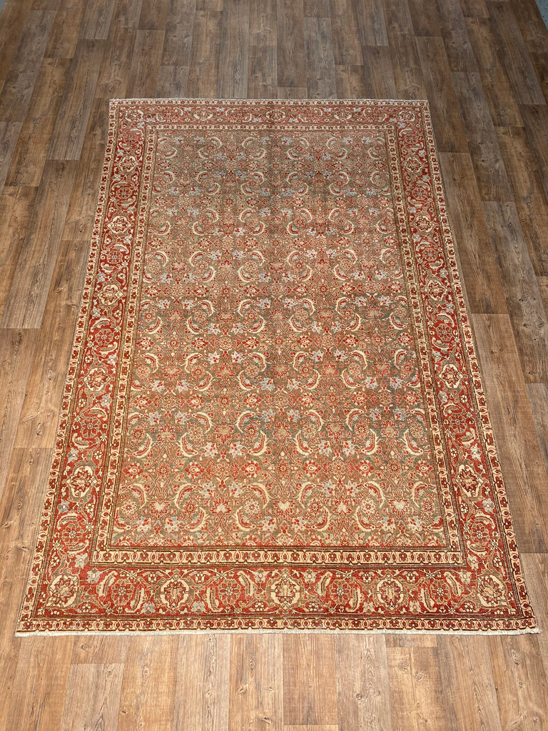 "Antique Tabriz - 6'7"" x 10'5"""