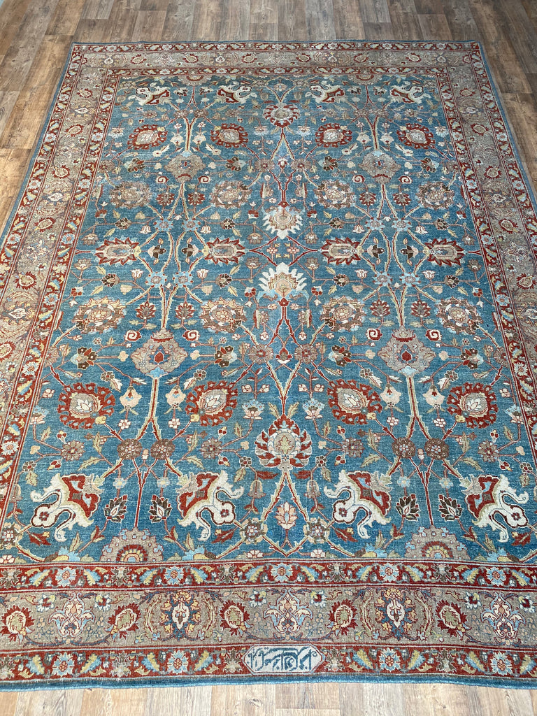 Antique Tabriz - 9' x 12'4""