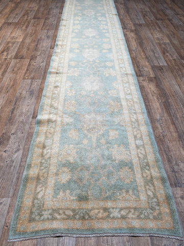 "3'2"" x 14'2"" Antique Heriz Runner"