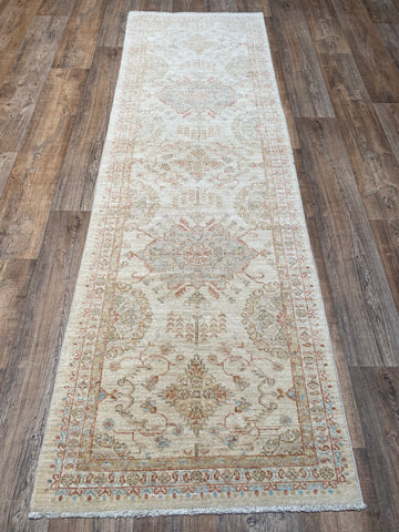 "Colorful Oushak Runner - 3'2"" x 12'6"""