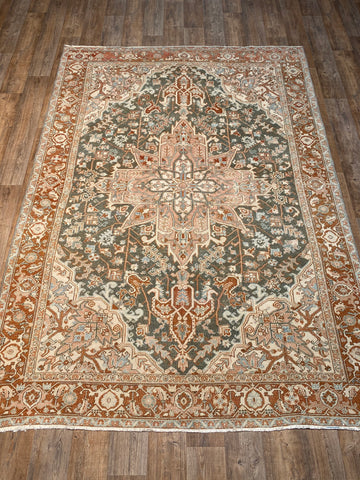 "Antique Oushak - 8'3"" x 12'7"""