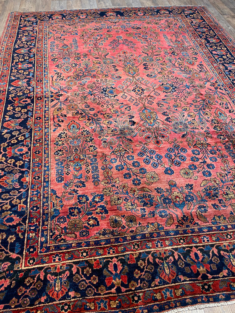 "Antique Sarouk - 8'5"" x 11'"