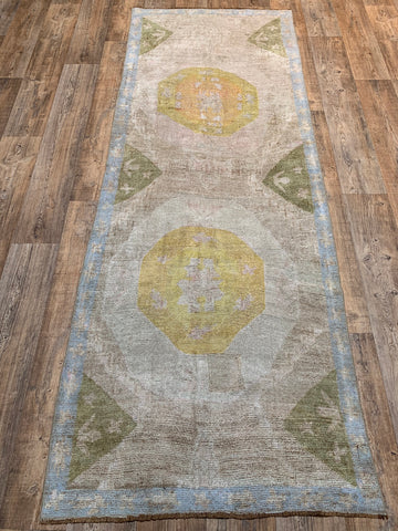 "12'5"" x 3'4"" Mid-Century Turkish Kars Runner"