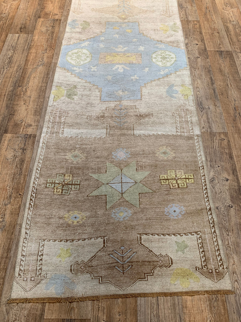 "11'4"" x 3'3"" Mid-Century Turkish Kars Runner"