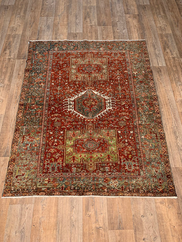 "4'2"" x 6'8"" Antique Afshar"