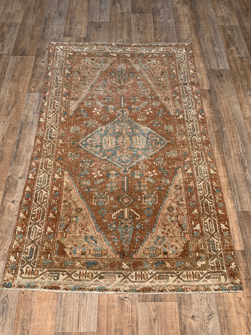 "4'1"" x 6'2"" Antique Persian Malayer"