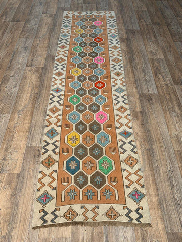 "6'9"" x 2'11"" Mid-Century Turkish Kars Runner"