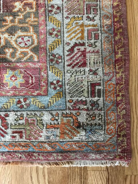 """Rachel"" 3'9""x5'7"" Vintage Turkish Rug"