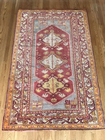 "3'11"" x 5'11"" Antique Turkish Ghiordes"