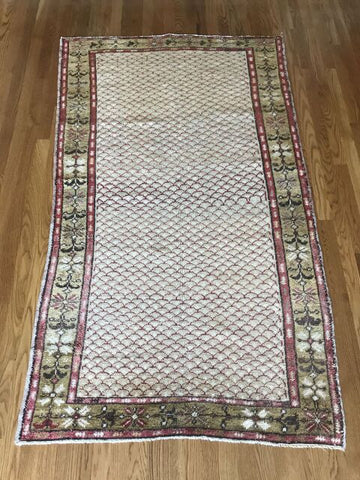 """Sandy"" 3'3""x5'3"" Vintage Turkish Rug from 1989"