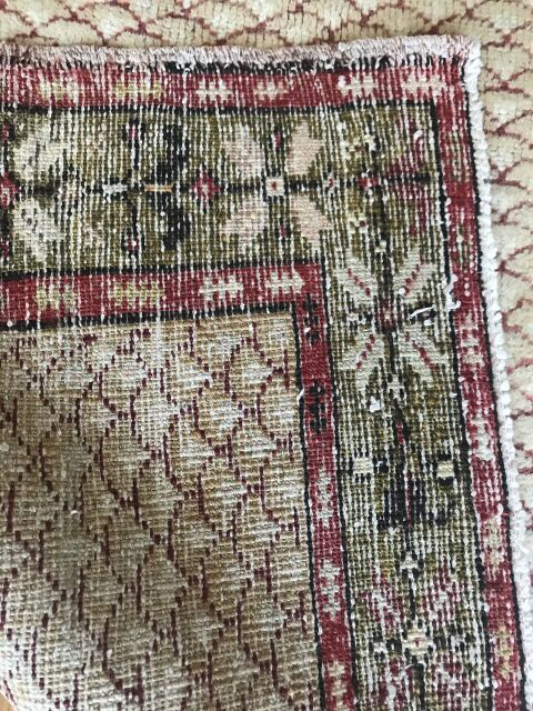 """Turkish Tiles"" 3'8""x6'3"" Gorgeous Turkish Vintage Rug"