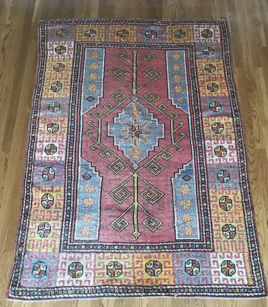 """Piramit"" 5'11""X4'3"" Unique Turkish Tribal Rug"