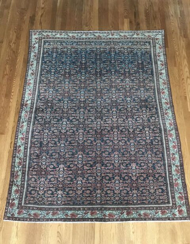 """Carmel"" 6'x10'9"" Delicious Vintage Turkish Oushak Rug"