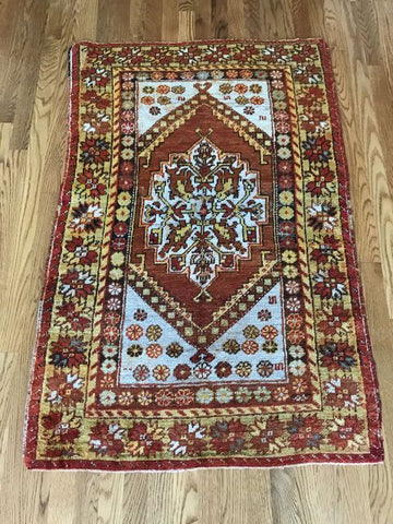 """Orion"" 3'6""x6'5"" Vintage Turkish Tribal Oushak"