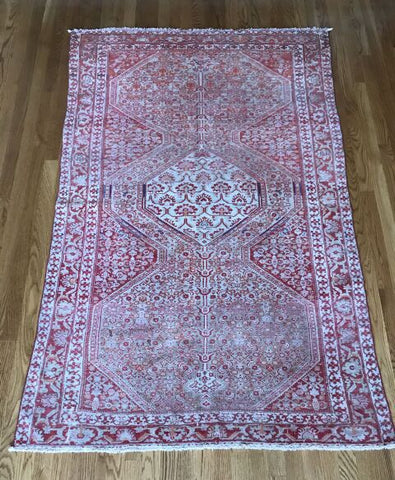 """Flagstaff"" 4'11""x9'7"" Collectible Vintage Turkish Oushak Area Rug"