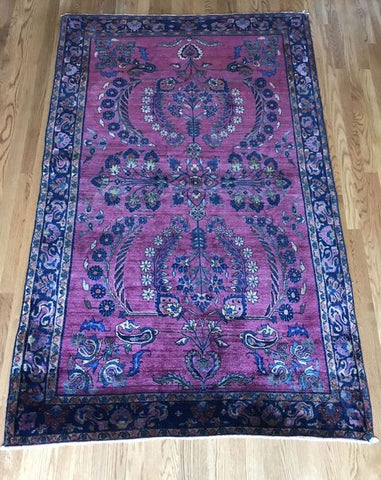 """Banu"" 2'11""x15'8"" Rare Antique Persian Malayer Runner"