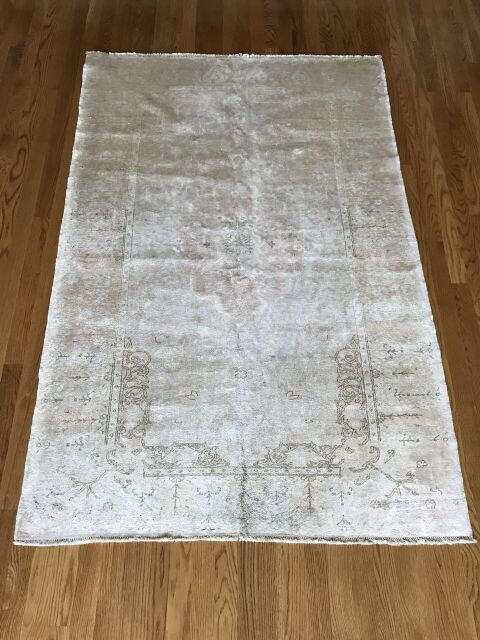 """Heather"" 3'11""x5'11"" Antique Silk Kaysari"