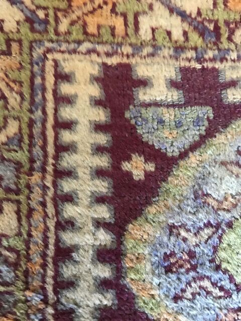 """Melanie"" 5'x2'9"" Luscious Vintage Rug from Turkey"