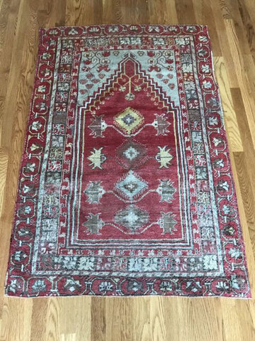 """Savannah"" 6'4""x3'7"" Vintage Turkish Oushak"