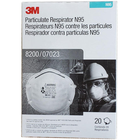 3M-Particulate Respirator 8200 07023 (AAD), N95