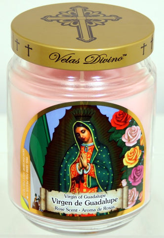 Virgin of Guadalupe Candles - 18oz Novena Candle