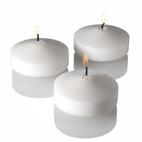 96 White Unscented 3 Inch Floating Candles