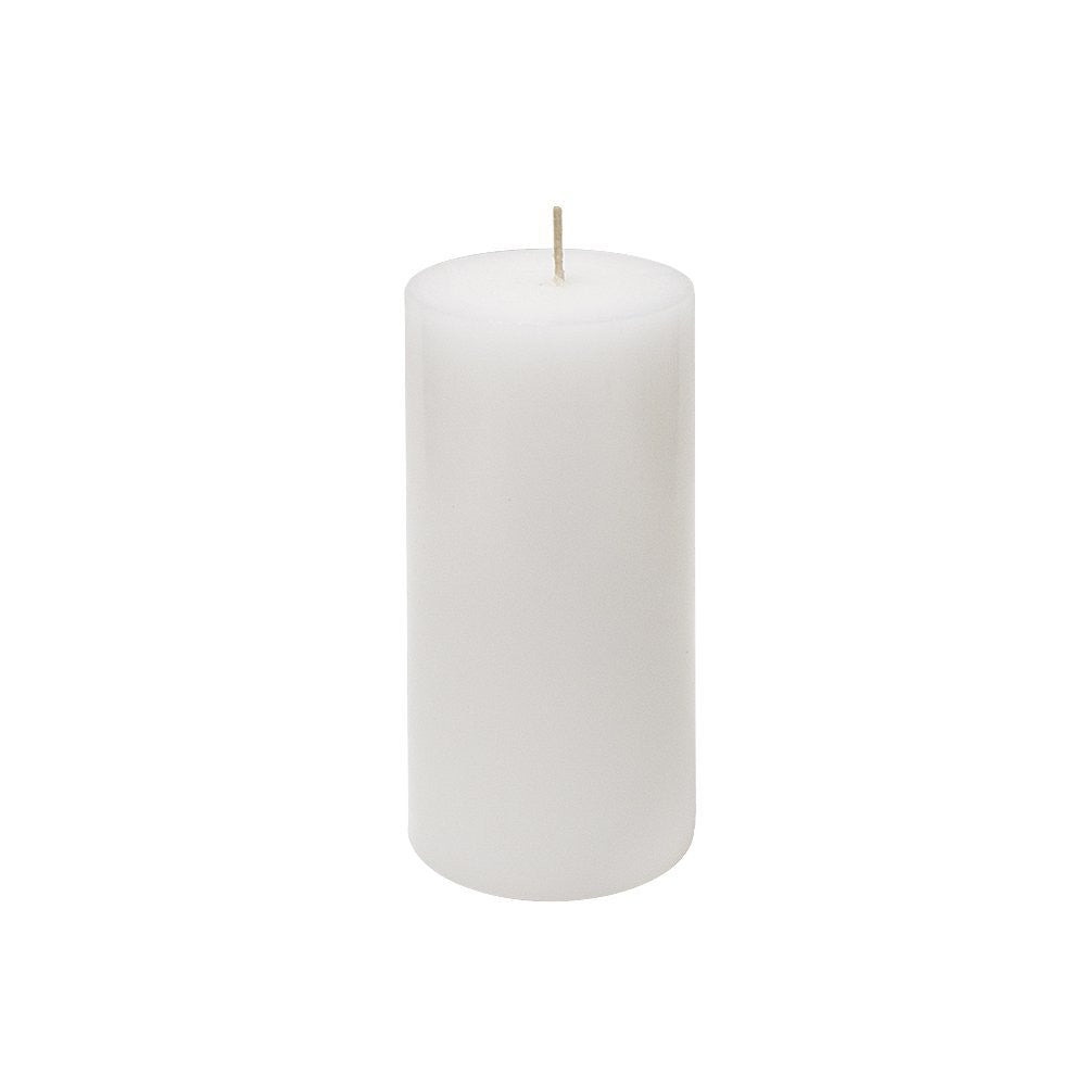 Unscented White 3x6 Pillar Candle