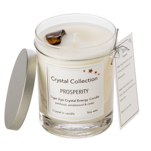 Tiger Eye Crystal - Prosperity - Patchouli Sandalwood & Cedar