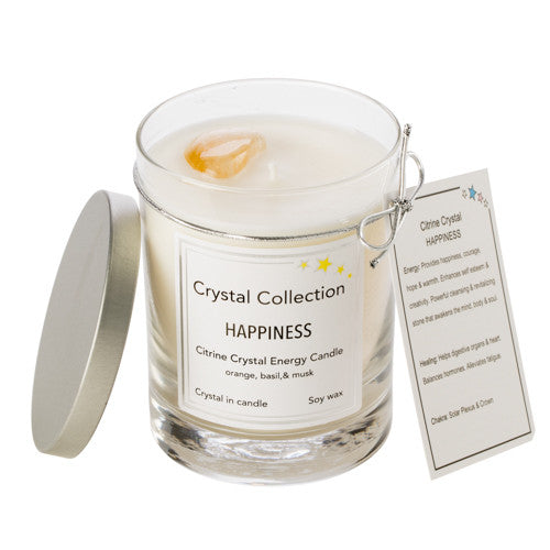 Citrine Crystal - Happiness - Orange Basil Musk