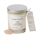 Scented Candle with Rose Quartz Crystal