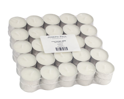White Unscented Tealight Candles