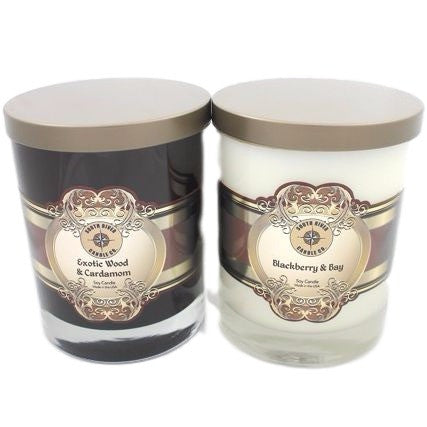 Luxury Soy Candle in Amber or Clear Glass
