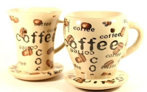 Pair of Coffee Cup Oil Warmers - Tart Melters