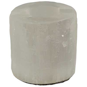 WHITE SELENITE TEALIGHT CANDLE HOLDER