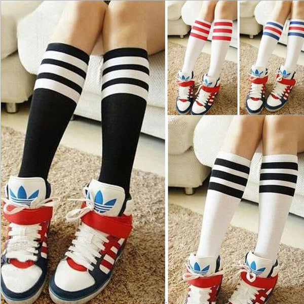3 Stripes Sports Socks (Red/Blue)