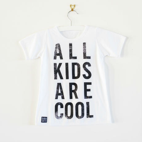 ALL KIDS ARE COOL GIRLS TEE - WHITE