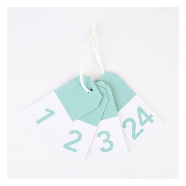 ADVENT Gift Tags Mint